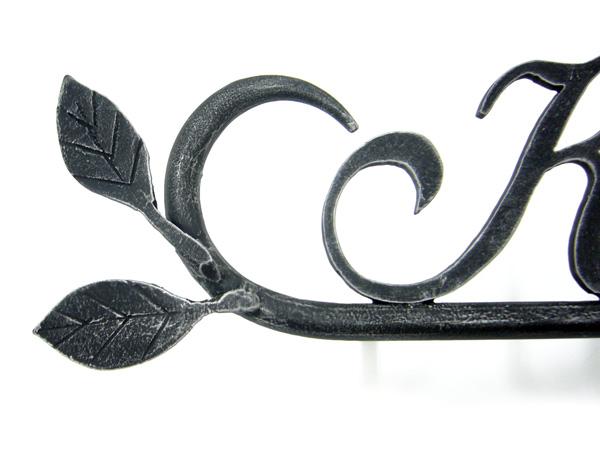 表札 アイアン表札・戸建用表札/サビにくい鉄製ハンドメイド/植物・リーフ・葉/039-04b