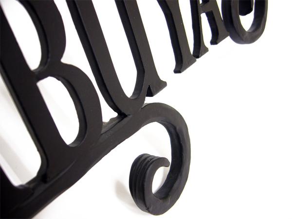 表札 アイアン表札・戸建用表札/サビにくい鉄製ハンドメイド/【書体限定】/039-06