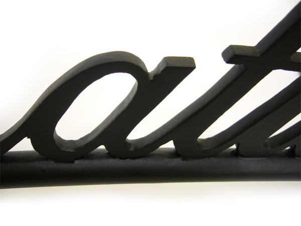 表札;アイアン表札・戸建用表札/サビにくい鉄製ハンドメイド//039-31