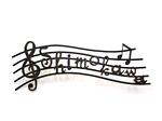 表札 アイアン表札・戸建用表札/サビにくい鉄製ハンドメイド/楽譜・音符・五線譜・音楽/039-55