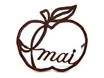 表札 アイアン表札・戸建用表札/サビにくい鉄製ハンドメイド/【書体限定】植物・フルーツ・りんご・リンゴ/039-62