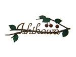 表札;アイアン表札・戸建用表札/サビにくい鉄製ハンドメイド/植物・フルーツ・サクランボ/039-63