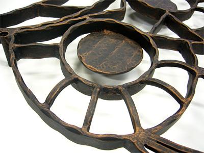 アイアン妻飾り・オーナメント/サビにくい鉄製ハンドメイド/動物・フクロウ・梟・鳥/094-e-2
