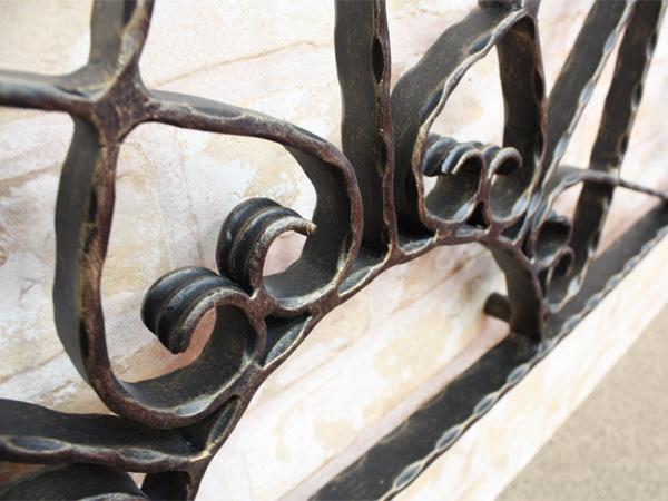 アイアン妻飾り・オーナメント/サビにくい鉄製ハンドメイド//094-d2