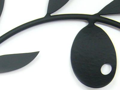 アイアン妻飾り・オーナメント/サビにくい鉄製ハンドメイド/植物・リーフ・葉・小鳥/094-n-2