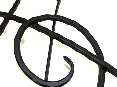 アイアン妻飾り・オーナメント/サビにくい鉄製ハンドメイド/ト音記号・音符・音楽/094-op
