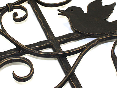 アイアン妻飾り・オーナメント/サビにくい鉄製ハンドメイド/動物・鳥/094-x