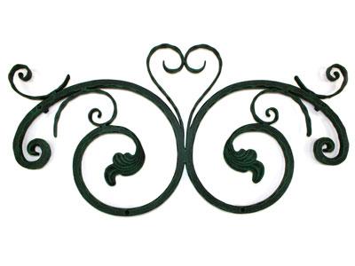 アイアン妻飾り・オーナメント/サビにくい鉄製ハンドメイド//094-y