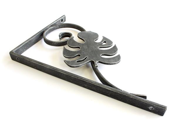 アイアン飾り/サビにくい鉄製ハンドメイド/植物・モンステラ・ハワイアン/acc-br1-l