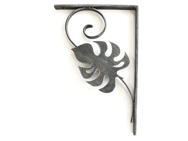 アイアン飾り/サビにくい鉄製ハンドメイド/植物・モンステラ・ハワイアン/acc-br1-r