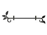 アイアン飾り/サビにくい鉄製ハンドメイド/植物・葉/acc-uh-1