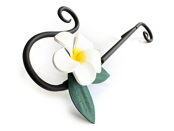 アイアン飾り/サビにくい鉄製ハンドメイド/植物・花・プルメリア・ハワイアン/acc-uh2-p