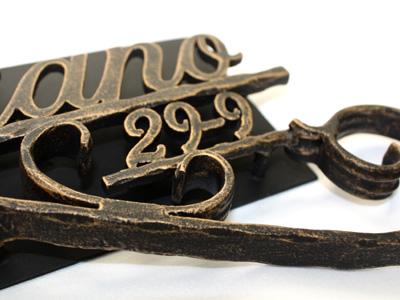 表札 アイアン表札・サインポール対応表札/サビにくい鉄製ハンドメイド//ex-03
