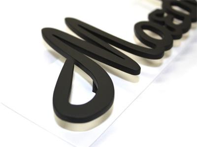 表札;アイアン表札・サインポール対応表札/サビにくい鉄製ハンドメイド//ex-06
