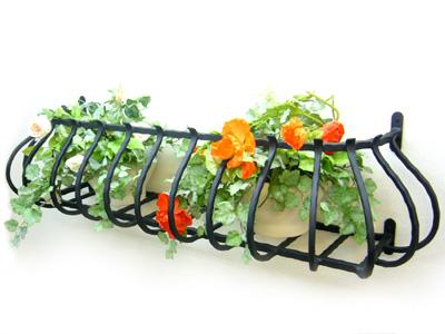 アイアンフラワーボックス/サビにくい鉄製ハンドメイド//flower-4-1000