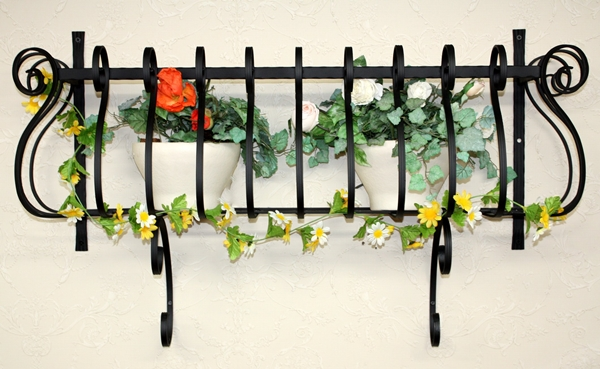 アイアンフラワーボックス/サビにくい鉄製ハンドメイド//flower-6S-1000