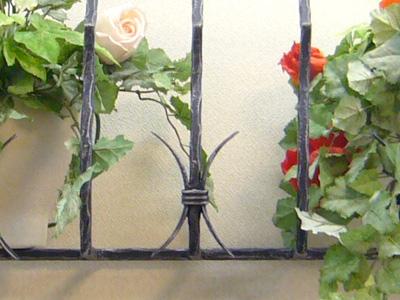 アイアンフラワーボックス/サビにくい鉄製ハンドメイド//flower-b-1-1000