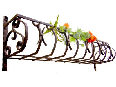 アイアンフラワーボックス/サビにくい鉄製ハンドメイド//flower-b-2-1000