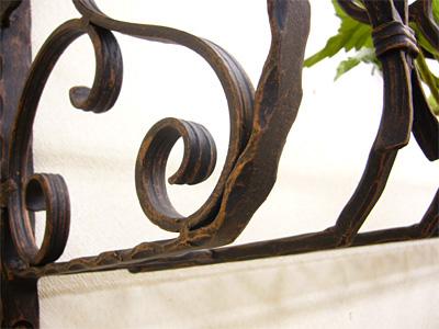 アイアンフラワーボックス/サビにくい鉄製ハンドメイド//flower-b-2-1750