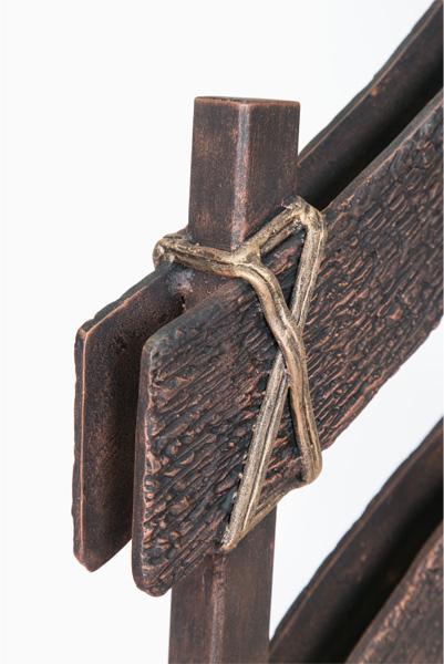 アイアン手すり・階段手すり/サビにくい鉄製ハンドメイド/屋内屋外兼用型・カントリー・牧場・柵/hr-3-country