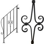 アイアン手すり・階段手すり/サビにくい鉄製ハンドメイド/屋内屋外兼用型・3段タイプ/hr-3-standard2