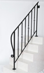 アイアン手すり・階段手すり/サビにくい鉄製ハンドメイド/屋内屋外兼用型・5段タイプ/hr-5-standard1