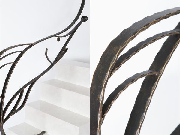 アイアン手すり・階段手すり/サビにくい鉄製ハンドメイド/屋内屋外兼用型・魚・マリン/hr-5-kajiki