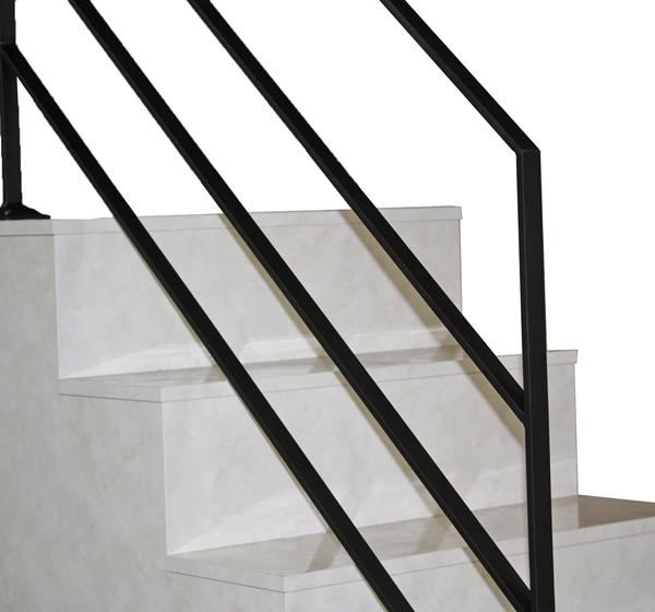 アイアン手すり・階段手すり/サビにくい鉄製ハンドメイド/屋内屋外兼用型・5段タイプ/hr-5-simple
