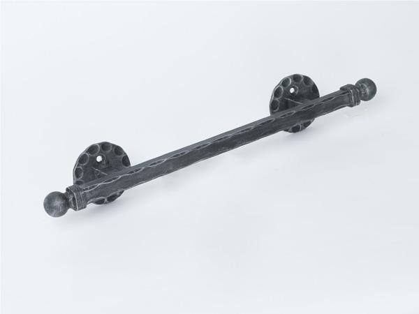アイアン手すり・階段手すり/サビにくい鉄製ハンドメイド/屋内屋外兼用型・壁付け手すり・モダン・W490/hr-b-3