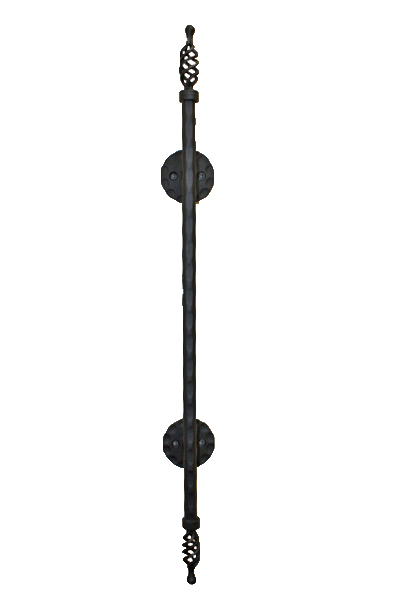 アイアン手すり・階段手すり/サビにくい鉄製ハンドメイド/屋内屋外兼用型・バリアフリー・壁付け・W812/hr-b-5