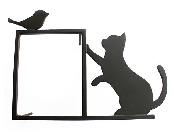 アイアンインターフォンカバー/サビにくい鉄製ハンドメイド/動物・鳥・猫・ネコ