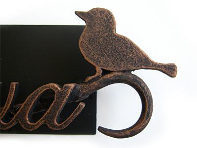 表札;アイアン表札・マンション用表札/サビにくい鉄製ハンドメイド/動物・鳥/ms-13