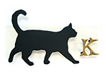 表札 アイアン表札・マンション用表札/サビにくい鉄製ハンドメイド/動物・ネコ・猫/ms-19