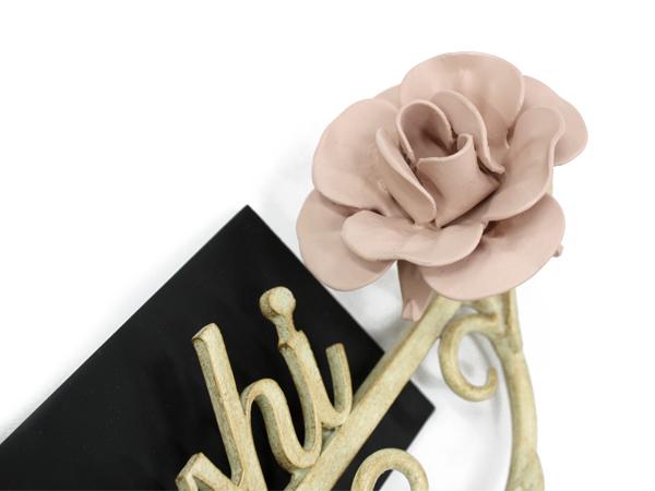 表札 アイアン表札・マンション用表札/サビにくい鉄製ハンドメイド/植物・薔薇・バラ/ms-26