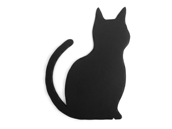 アイアン表札・追加用オブジェ/サビにくい鉄製ハンドメイド/動物・猫・ネコ/obj-a