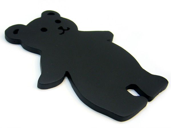 アイアン表札・追加用オブジェ/サビにくい鉄製ハンドメイド/動物・クマ・熊/obj-bear1