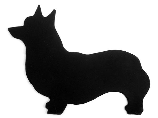 アイアン表札・追加用オブジェ/サビにくい鉄製ハンドメイド/動物・犬・コーギー/obj-c