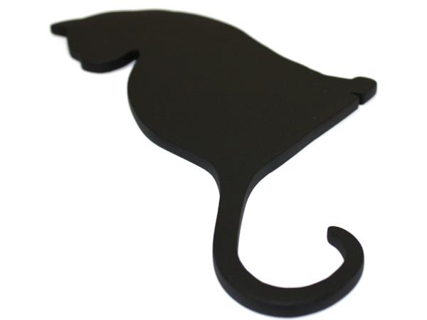 アイアン表札・追加用オブジェ/サビにくい鉄製ハンドメイド/動物・猫・ネコ/obj-cat-back