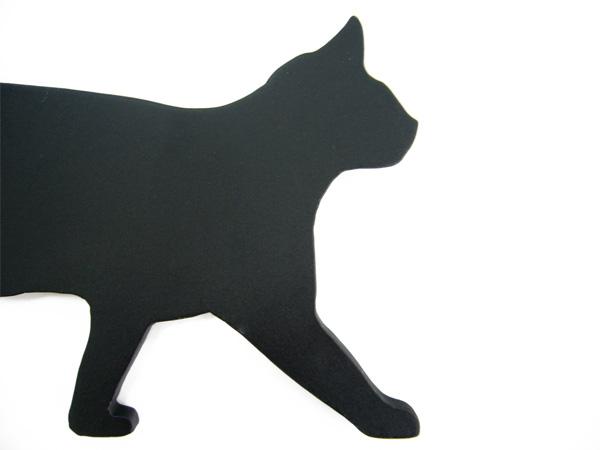 アイアン表札・追加用オブジェ/サビにくい鉄製ハンドメイド/動物・猫・ネコ/obj-cat-walk
