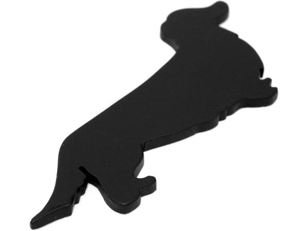 アイアン表札・追加用オブジェ/サビにくい鉄製ハンドメイド/動物・犬・ダックスロング/obj-dl