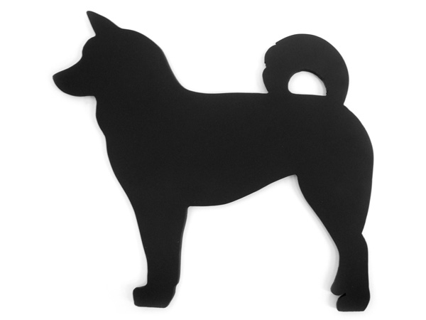 アイアン表札・追加用オブジェ/サビにくい鉄製ハンドメイド/動物・犬・柴犬/obj-f