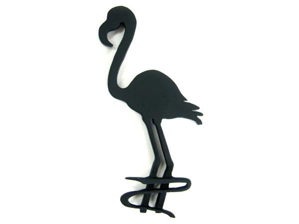 アイアン表札・追加用オブジェ/サビにくい鉄製ハンドメイド/動物・鳥・フラミンゴ/obj-flamingo