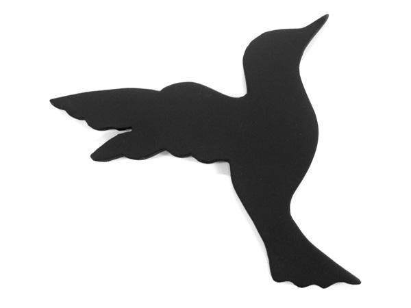 アイアン表札・追加用オブジェ/サビにくい鉄製ハンドメイド/動物・鳥/obj-flying-bird
