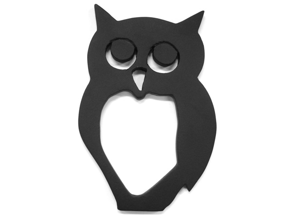 アイアン表札・追加用オブジェ/サビにくい鉄製ハンドメイド/動物・フクロウ・梟・鳥/obj-fukurou