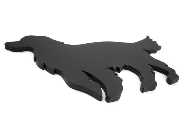アイアン表札・追加用オブジェ/サビにくい鉄製ハンドメイド/動物・犬・ゴールデンレトリバー/obj-golden