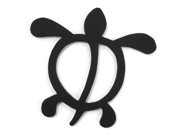 アイアン表札・追加用オブジェ/サビにくい鉄製ハンドメイド/動物・カメ・亀・ハワイアン/obj-h