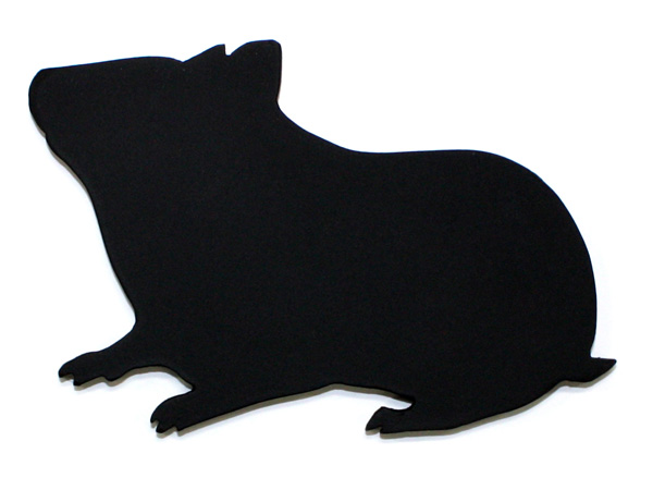 アイアン表札・追加用オブジェ/サビにくい鉄製ハンドメイド/動物・小動物・ハムスター/obj-hamster