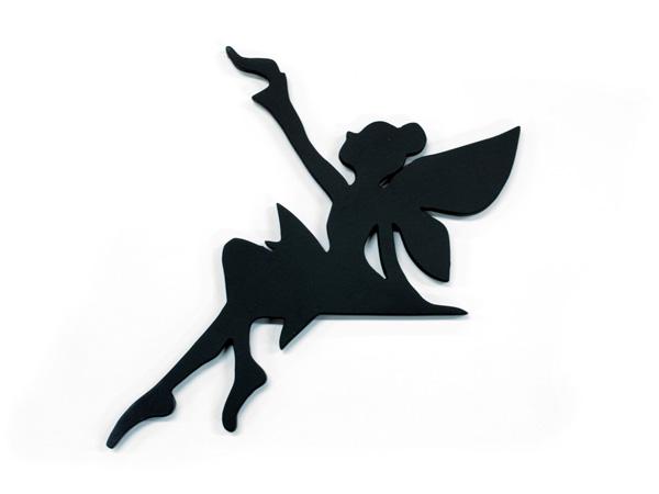アイアン表札・追加用オブジェ/サビにくい鉄製ハンドメイド/妖精・フェアリー/obj-i