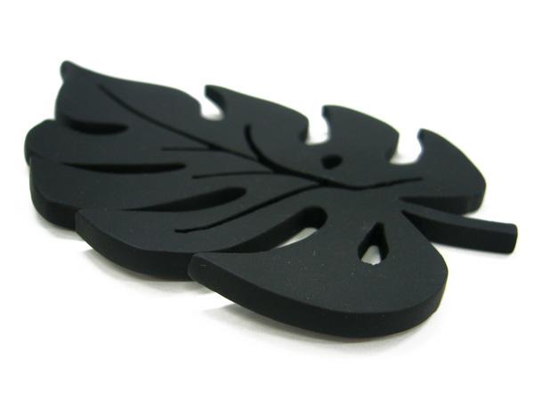 アイアン表札・追加用オブジェ/サビにくい鉄製ハンドメイド/植物・モンステラ・ハワイアン/obj-monstera