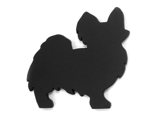 アイアン表札・追加用オブジェ/サビにくい鉄製ハンドメイド/動物・犬・パピヨン/obj-papillon